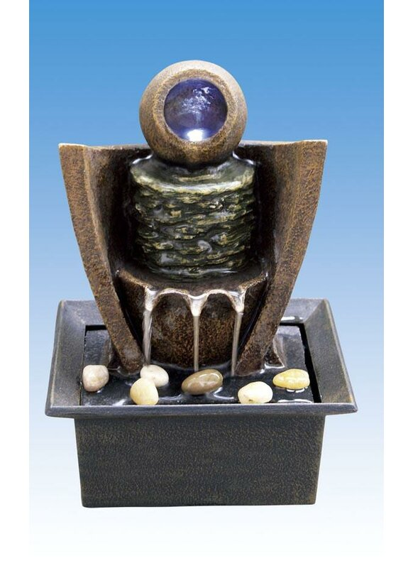 ABCHomeCollection Ceramic Table Fountain with Light