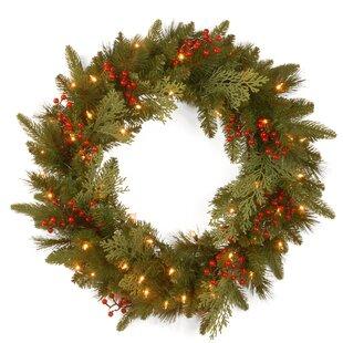 24 lighted wreath