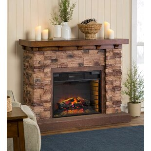 Quartz Infrared Stone Electric Fireplace by Plow & Hearth