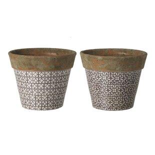 Vicki Ceramic Plant Pot Set (Set Of 2) By Bloomsbury Market