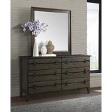 National City 6 Drawer Double Dresser with Mirror by Gracie Oaks
