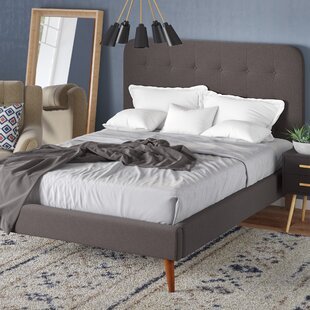 Online Reviews June Mid Century Queen Upholstered Platform Bed by Langley Street Reviews (2019) & Buyer's Guide