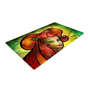 Mandie Manzano Poison Ivy Villain Orange Area Rug