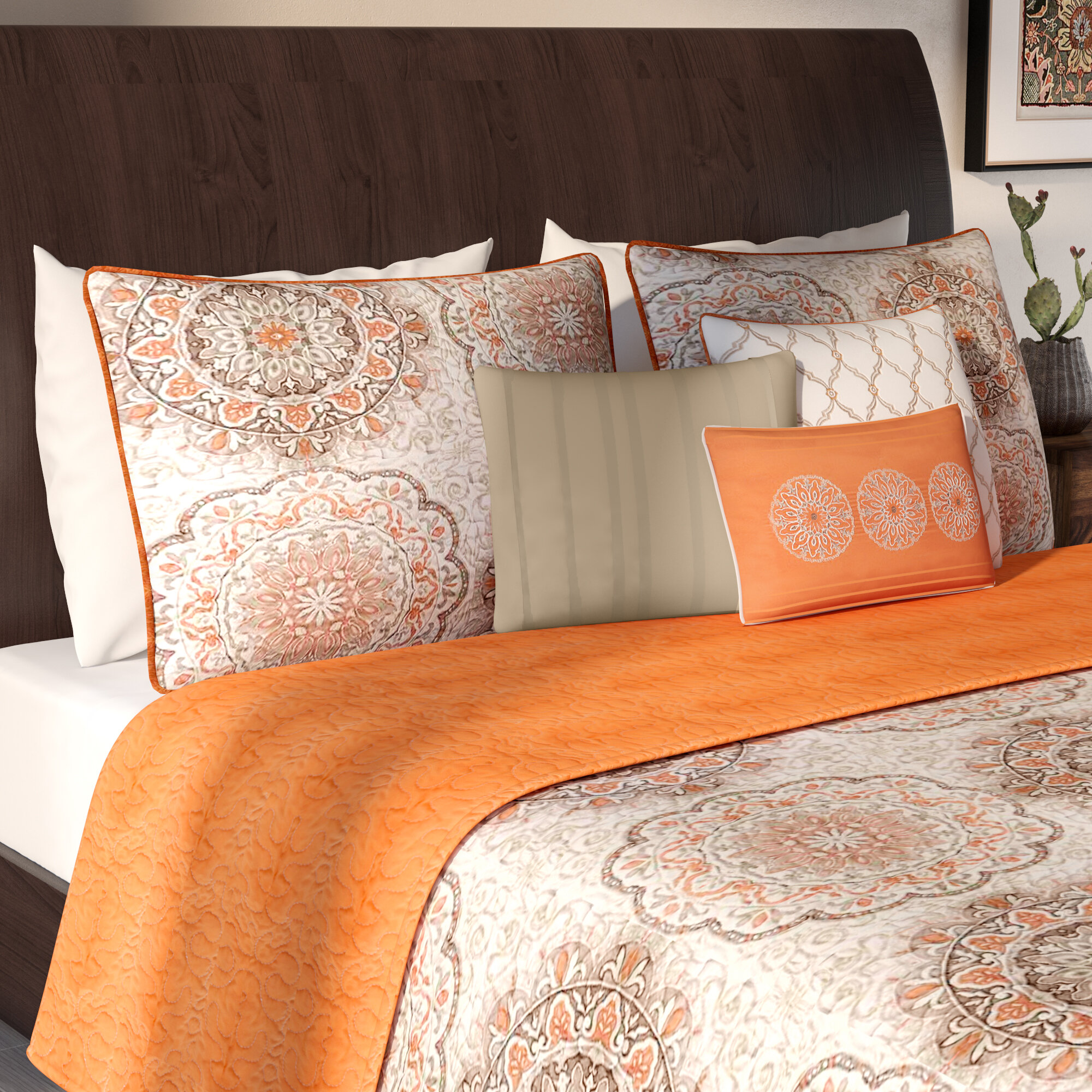 Vibrant Rebekah Spring Garden Over Sized Quilt Coverlet Set