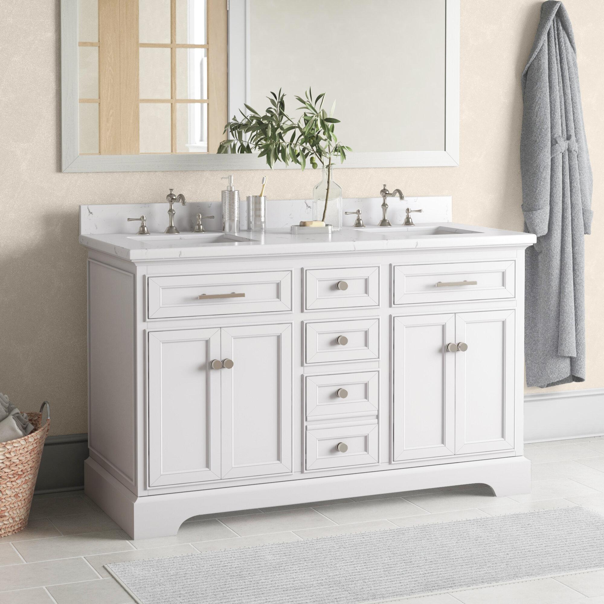Three Posts Currahee 54 Double Bathroom Vanity Set Reviews Wayfair