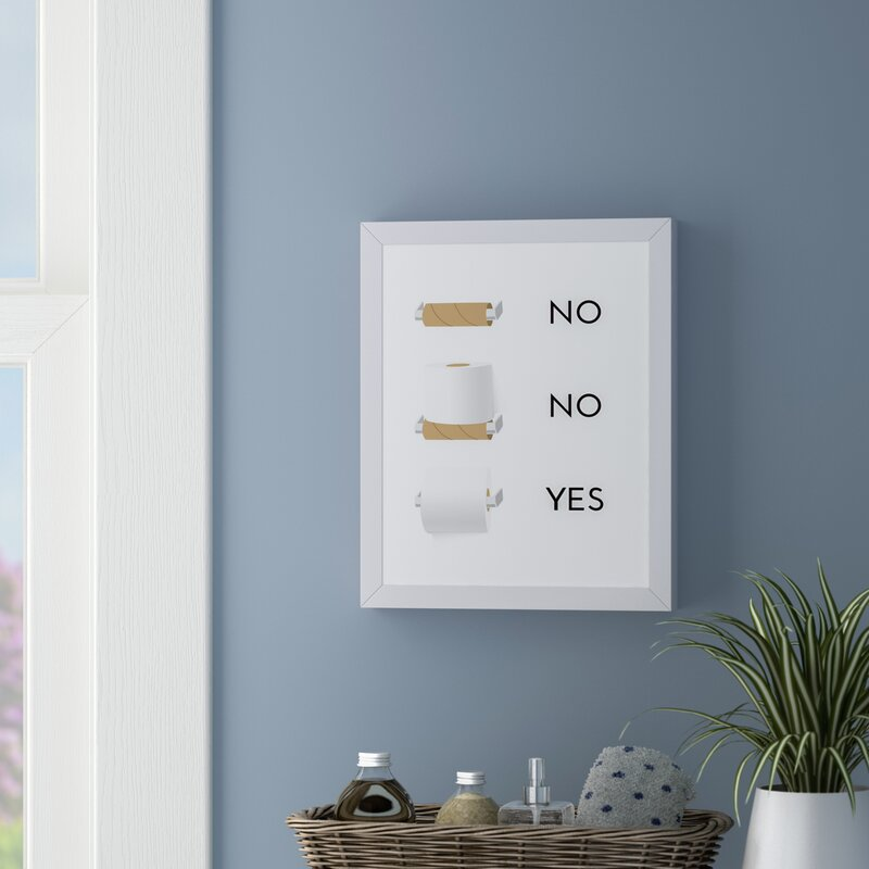 East Urban Home Toilet Paper Framed Graphic Art Print