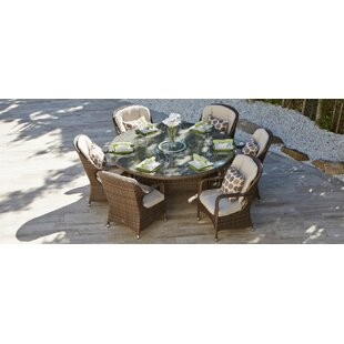 Guerra 7 Piece Outdoor Dining Set with Cushions by August Grove