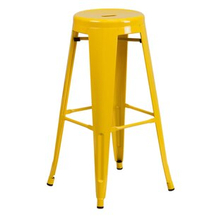 Tatiana Metal 30'' Patio Bar Stool by Turn on the Brights