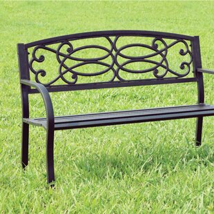 Cesca Armrests Wooden Park Bench