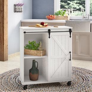 Banbury Multi-Purpose Wooden Rolling Kitchen Cart by Gracie Oaks