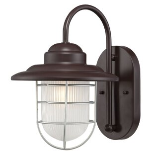 Fitzhugh 1-Light Outdoor Wall Lantern by Andover Mills