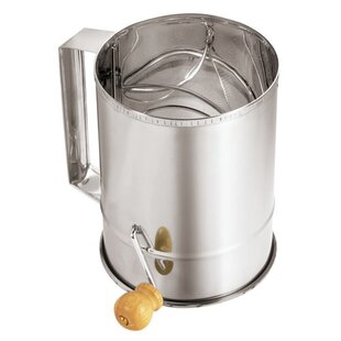 Stainless Steel Sifter with Crank Handle