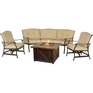 Three Posts Lauritsen 4 Piece Sofa Set with Cushions
