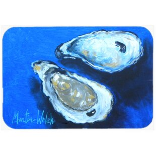 Oysters Seafood Four Glass Cutting Board By Caroline's Treasures