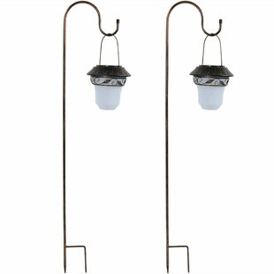 Affordable Lought Elegant Solar Outdoor Hanging Lantern (Set of 2) By Fleur De Lis Living