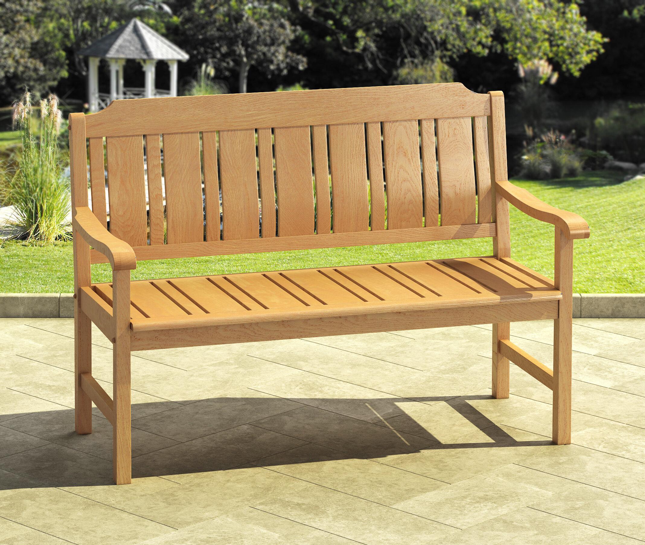 Isanti Wooden Garden Bench