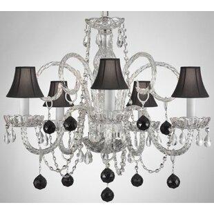 House of Hampton Kamena 5-Light Shaded Chandelier