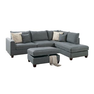 Malta Reversible Sectional with Ottoman by Laurel Foundry Modern Farmhouse