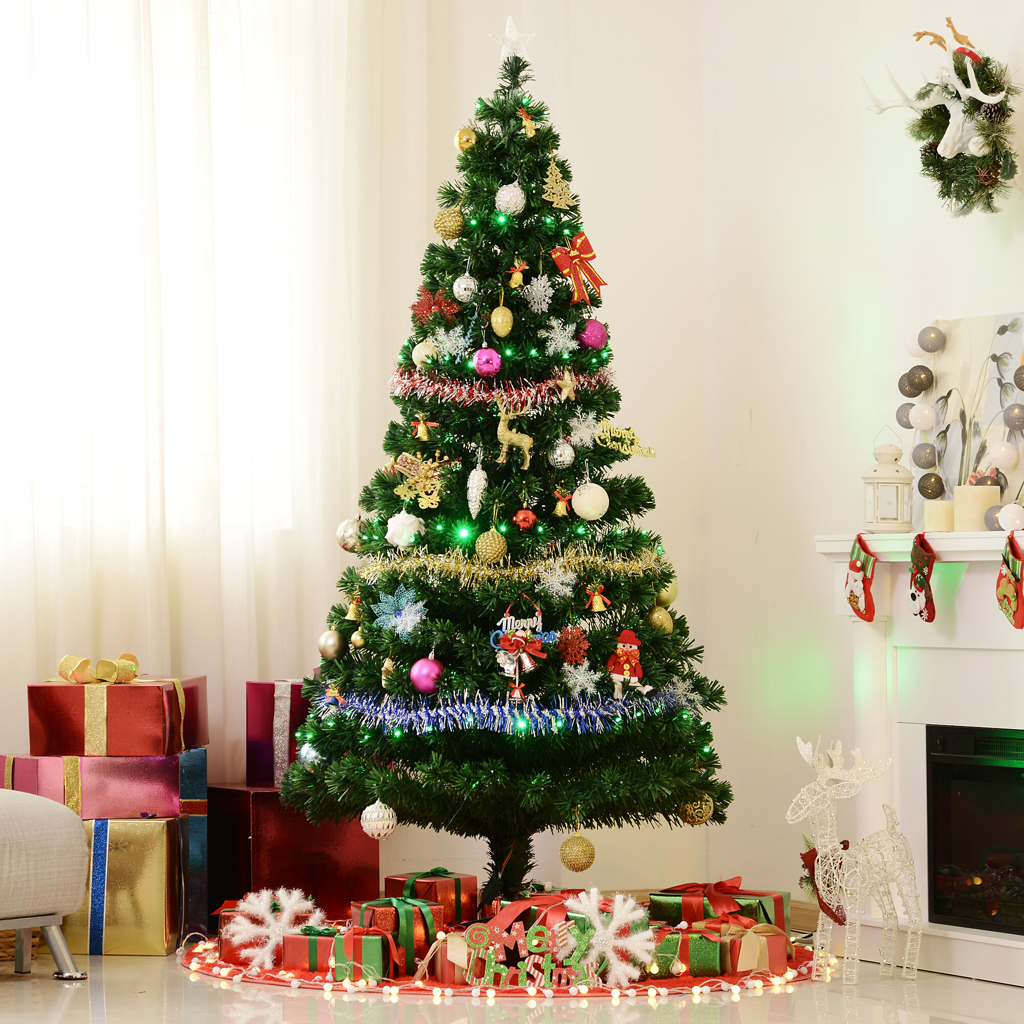 Christmas Tree Ideas With Multi Colored Lights