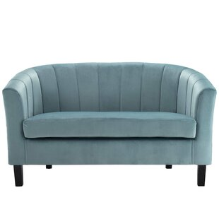 Great choice Wilbur Channel Loveseat by House of Hampton Reviews (2019) & Buyer's Guide