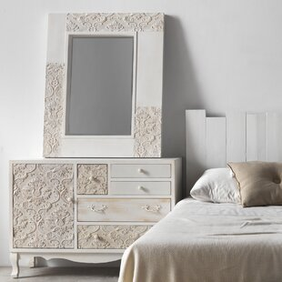 Mabel 1 Door 5 Drawer Chest Of Drawers With Mirror By Fleur De Lis Living