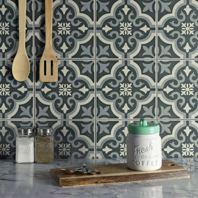 Rayl 7 75 X Ceramic Field Tile In Charcoal