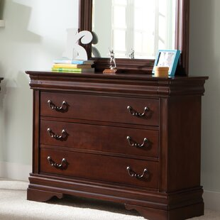 Alcott Hill Raina 3 Drawer Dresser