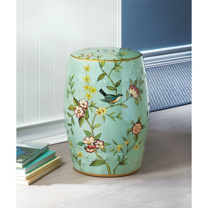 Fabulous Janke Floral Garden Stool Caraccident5 Cool Chair Designs And Ideas Caraccident5Info