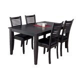 Haan Traditional 5 Piece Solid Wood Dining Set by Red Barrel Studio®
