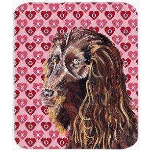 Boykin Spaniel Valentine's Love Glass Cutting Board ByCaroline's Treasures