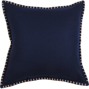 Felted Whip Stitched Throw Pillow