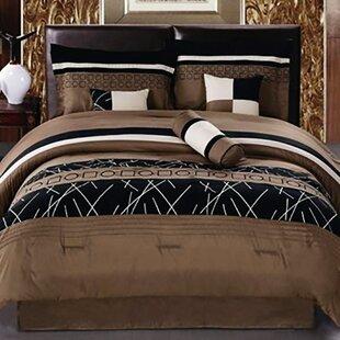 Aurick Embroidered 7 Piece Comforter Set