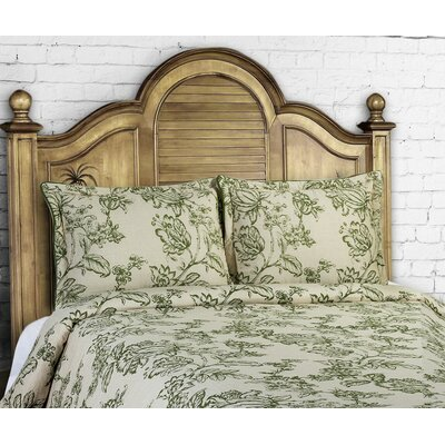 14 Karat Home Inc French Country 3 Piece Duvet Cover Set Size King Color Moss
