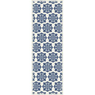 Hostetler Modern European Blue/White Indoor/Outdoor Area Rug