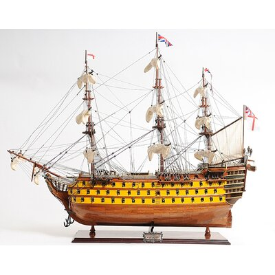 HMS Victory Painted Model Ship