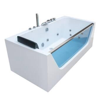 Simba Usa Orion 72 X 48 Corner Whirlpool Bathtub Wayfair