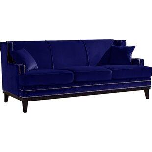 Couch u form modern  Navy Blue Velvet Sofa   Wayfair