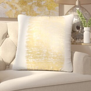 Garlan Metallic Banded Cotton Throw Pillow