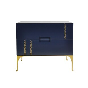 Kepler Martini 2 Drawer Nightstand by Everly Quinn