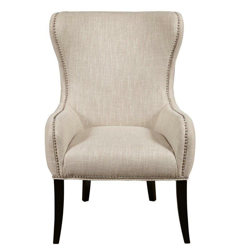 Seraphine Mink Wing back Chair