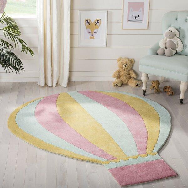 Martha Stewart Rugs Hot Air Balloon Hand Tufted Wool Peony Area Rug Wayfair