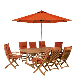 Maren 8 Seater Dinning Set With Cushions And Parasol Image