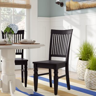 Pennington Solid Wood Dining Chair (Set Of 2) by Beachcrest Home Sale
