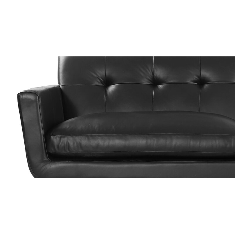 Luther Mid Century Modern Vintage Leather Sofa