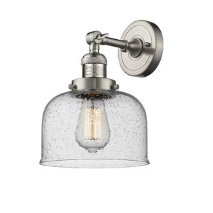Read Reviews Adalhard Bell 1-Light Armed Sconce By 17 Stories