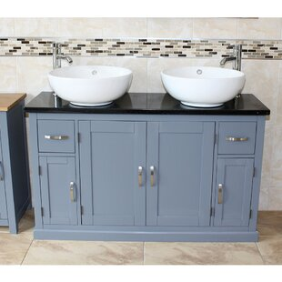 Solid Beech Hadler 1230mm Free-standing Double Vanity By August Grove