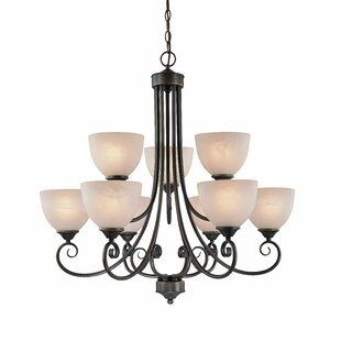 Fleur De Lis Living Ora 9-Light Shaded Chandelier