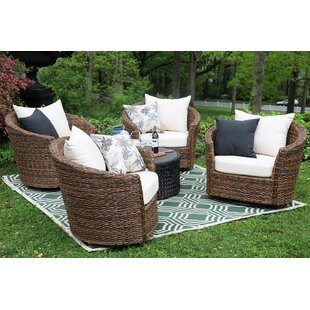 Pikeville 5 Piece Sunbrella Conversation Set with Cushions