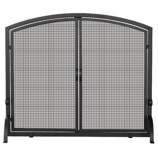 Single Panel Iron Fireplace Screen by Uniflame Corporation