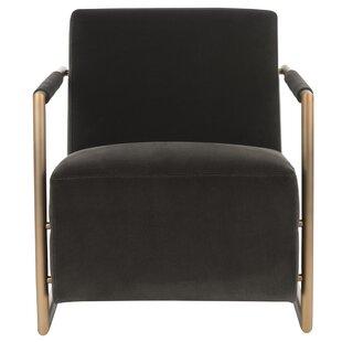 Kugler Velvet Armchair by Everly Quinn